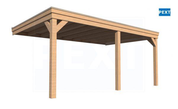 Douglas overkapping plat dak Pext